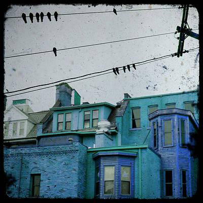 Little Blue Houses Art Print