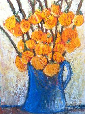 Little Blue Jug Art Print by Sherry Harradence