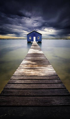 Shed Photograph - Little Blue by Leah Kennedy