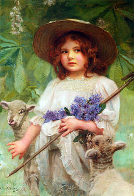 Digital Art - Little Bo Peep by Arthur John Elsley