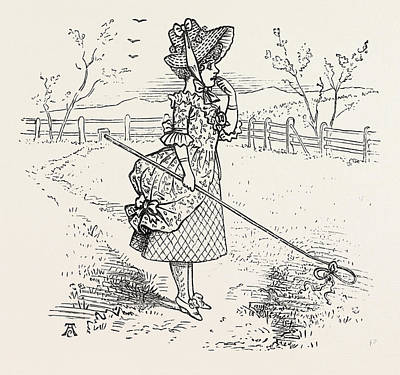 Little Bo-peep Has Lost Her Sheep, And Cannot Tell Where Art Print by English School