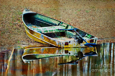 Photograph - Little Boat Photoart by Debbie Portwood
