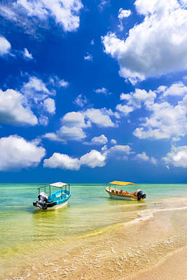 Photograph - Little Boats On The Yucatan Coast by Mark E Tisdale