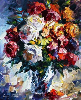 Little Bouquet Art Print by Leonid Afremov