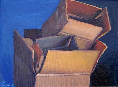 Painting - Little Boxes-red Yellow Blue by Vera  Smith