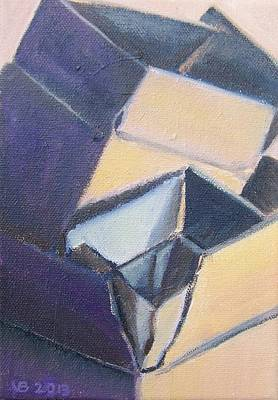 Painting - Little Boxes-yellow And Violet by Vera  Smith