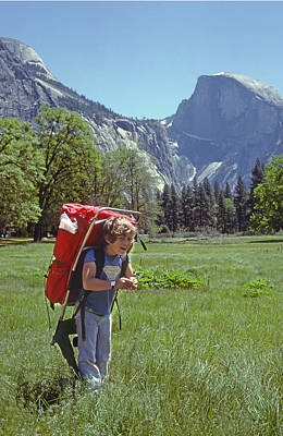 Photograph - Mp-441-little Boy Big Pack  by Ed  Cooper Photography