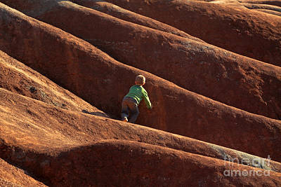 Photograph - Little Boy In Badland by Charline Xia