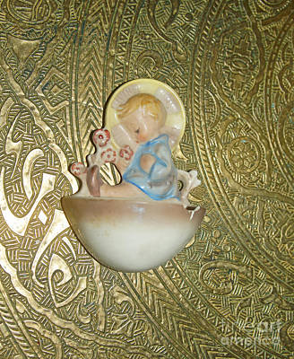 Photograph - Newborn Boy In The Baptismal Font Sculpture by Eva-Maria Di Bella