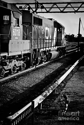 Frank J Casella Royalty-Free and Rights-Managed Images - Little Boys and Big Trains by Frank J Casella