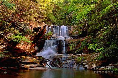 Asheville Digital Art - Little Bradley Falls by Jeff McJunkin