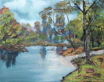 Art Print featuring the painting Little Brook by Michael Daniels
