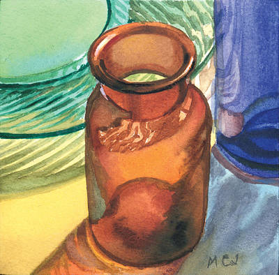 Painting - Little Brown Bottle by Marguerite Chadwick-Juner