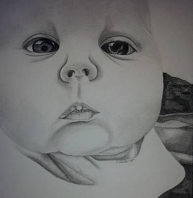 Drawing - Little Bubble Mouth by Carol De Bruyn