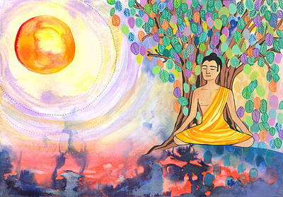 Inner World Mixed Media - Little Buddha by Cat Athena Louise