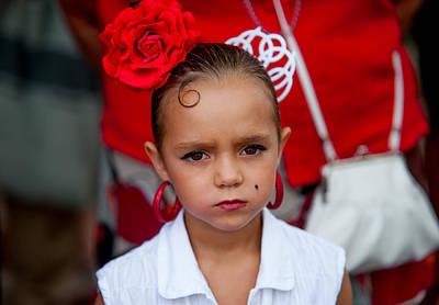 Photograph - Little Carmen. Romeria Celebration In Torremolinos. Spain by Jenny Rainbow