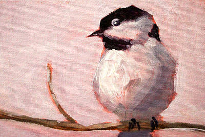 Painting - Little Chickadee by Nancy Merkle
