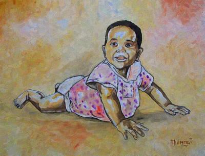 Family Drawing - Little Child by Anthony Mwangi