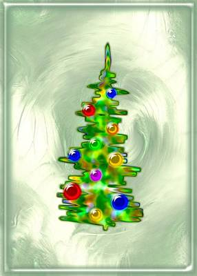 Glass Digital Art - Little Christmas Tree by Anastasiya Malakhova