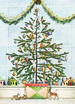 Painting - Little Christmas Tree by Lynn Bywaters