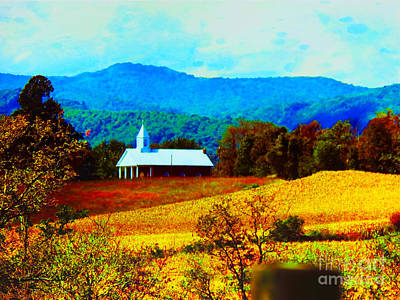 Photograph - Little Church In The Mountains Of Wv by Gena Weiser