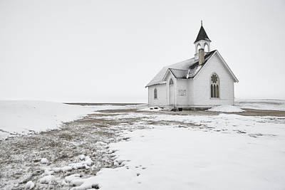 Little Church In The Prairies Art Print