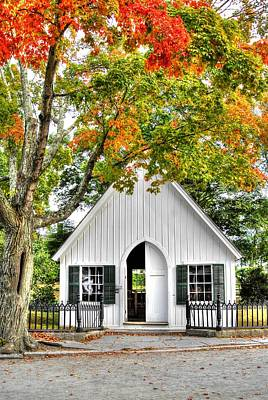 Photograph - Little Church In The Village by Donald Williams