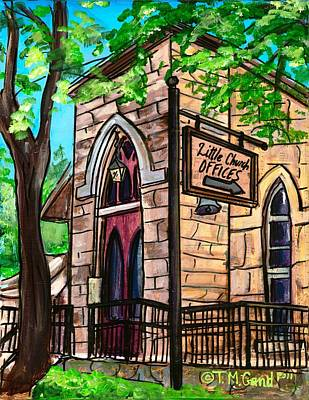 San Antonio River Walk Painting - Little Church by TMGand