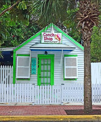 Photograph - Little Conch Shop Key West by Rebecca Korpita