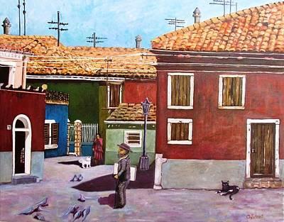 Little Corner Of Venice Art Print by Caroline Street