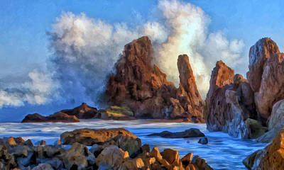 Art Print featuring the painting Little Corona by Michael Pickett