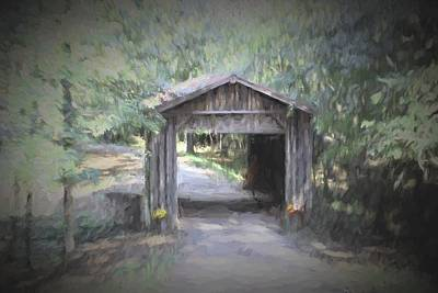 Little Covered Bridge Print by Cathy Lindsey
