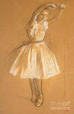 Youthful Drawing - Little Dancer by Edgar Degas
