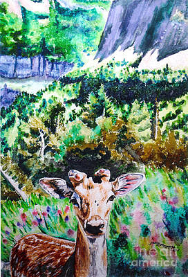 Painting - Little Deer by Tracy Rose Moyers