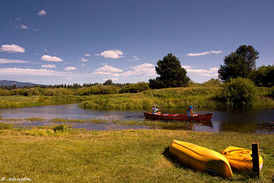 Photograph - Little Deschutes River Bend Sunriver Thousand Trails by Bob and Nadine Johnston