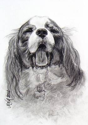 Drawing - Little Dog Big Name by Michelle Wolff