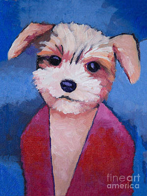 Little Dog Art Print by Lutz Baar