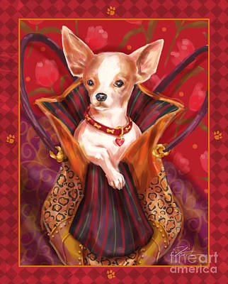 Prairie Dog Mixed Media - Little Dogs- Chihuahua by Shari Warren