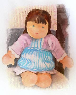 Puppet Painting - Little Doll by Lutz Baar