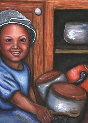 Art Print featuring the mixed media Little Drummer Boy by Alga Washington