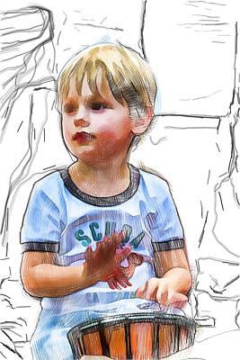 Mixed Media - Little Drummer Boy by John Haldane