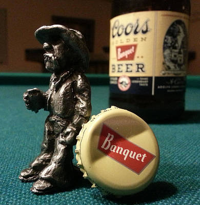 Sculpture - Little Drunk Cowboy by Tim  Joyner