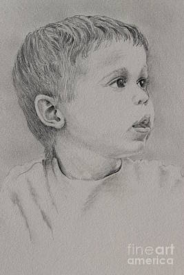 Drawing - Little Dude by Robert D McBain