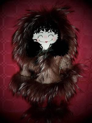 Candy Candy Doll Photograph - Little Eskimo Handmade Ragdoll For Unicef by Donatella Muggianu