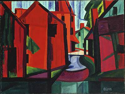 Masonite Painting - Little Falls, New Jersey by Oscar Bluemner