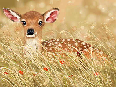 Deer Painting - Little Fawn by Veronica Minozzi