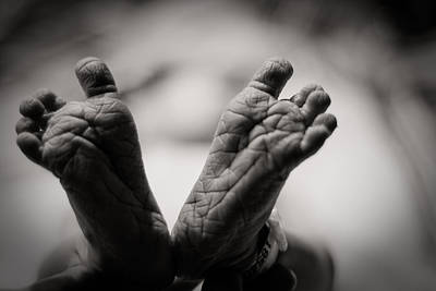 Child Photograph - Little Feet by Adam Romanowicz