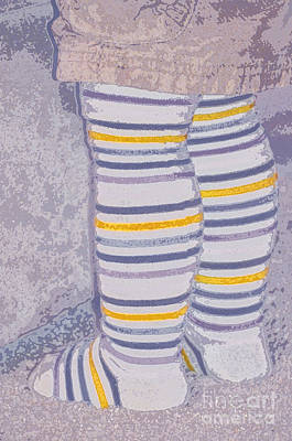 Little Feet-yellow Art Print by Molly McPherson