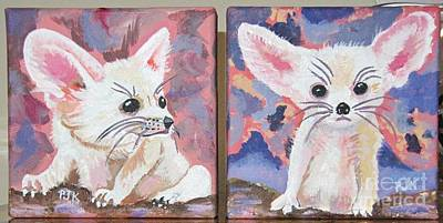 Painting - Little Fennec Foxes by Phyllis Kaltenbach