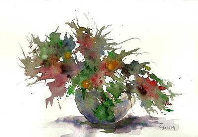 Wet-on-wet-technique Painting - Little Floral 1 by Claudia Hanson